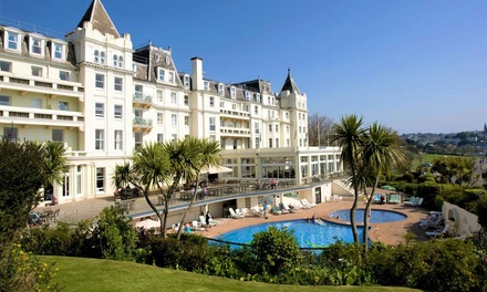 Torquay: 1 or 2 Nights for Two with Breakfast and Leisure Access at 4* The Grand Hotel Torquay