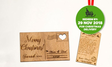 .95 for Up to Four Personalised Christmas Letters from Santa or Postcards Don't Pay Up to $89.88