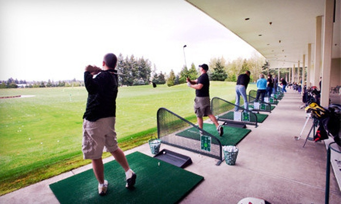 Tualatin Island Greens - Tualatin Island Greens Golf Center & Grill: $20 for Three Buckets of Driving-Range Balls and $10 Worth of Grill Food at Tualatin Island Greens (Up to $43 Value)
