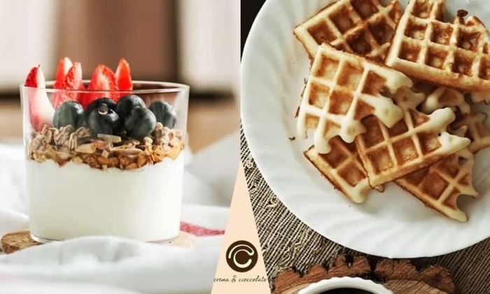 17,50€ per Consegna a domicilio: yogurt e waffle da