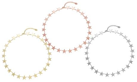 Collar de 25 estrellas encadenadas