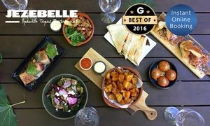 Jezebelle: Five-Course Tapas for Two ($49) or Eight-Course Tapas for Four People ($89) with Wine at Jezebelle (Up to $161 Value)