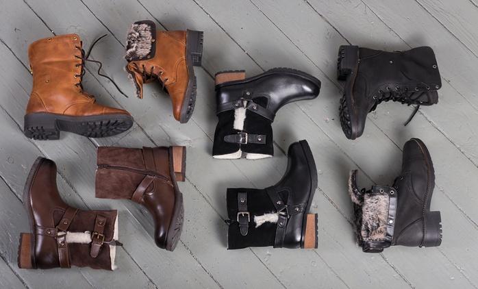Bottes doublées en cuir pour femme, modèle, coloris et pointure au choix, dès 49,99€ (jusqu'à 81% de réduction)