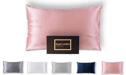 Pure DualSided Mulberry Silk Pillowcases in a Choice of Colour: One $35 or Two $65 Don't Pay up to $458