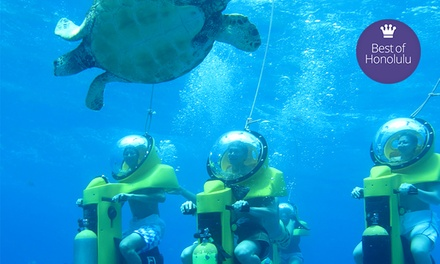 $95 for a Submarine-Scooter and Turtle-Watching Adventure from Island Water Sports Hawaii ($198 Value)