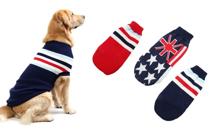 .95 for a Winter Dog Knitted Jumper in Choice of Three Designs