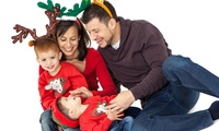 Christmas Photoshoot Package with 10 x 8 Canvas, 7 x 5 Prints, Key Rings and Cards at Zen Shots (94% Off)