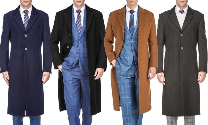 Braveman Men's Wool-Blend Overcoat (S-3XL)   Groupon