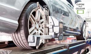 GP Car Auto Center: GP Car – Jardim América: alinhamento, balanceamento, rodízio de pneus, check-up e diagnóstico (opção com troca de óleo)