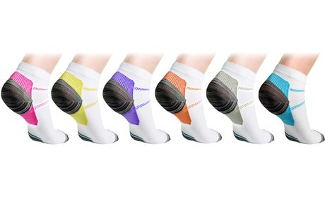 Unisex Ankle Compression Socks (3 or 6-Pack)