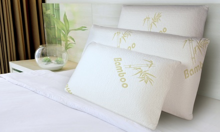 1, 2 ou 4 oreillers bloc mémoire de forme Bamboo Sampur déhoussables
