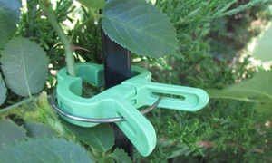 Evelots Plant-Staking Clips with Small and Large Sizes (40-Pack)
