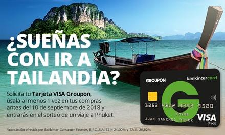 Gana un viaje a Tailandia para 2 personas con tu Visa Groupon Bankintercard