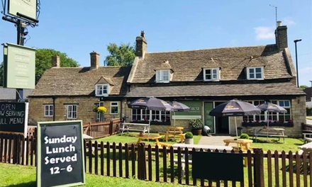 TwoCourse Meal and Glass of Wine for Up to Four at The Packhorse Pub