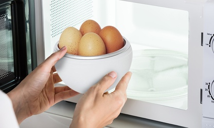 One or Two Microwave Egg Boilers
