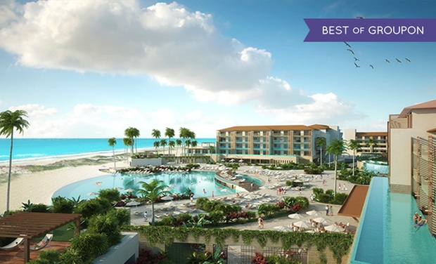 TripAlertz wants you to check out ✈ 4 or 6 Night Dreams Playa Mujeres Resort Trip with Nonstop Airfare. Price per Person Based on Double Occupancy.  ✈ All-Inclusive Dreams Playa Mujeres Trip w/ Air from Vacation Express - All-Inclusive Mexico Vacation