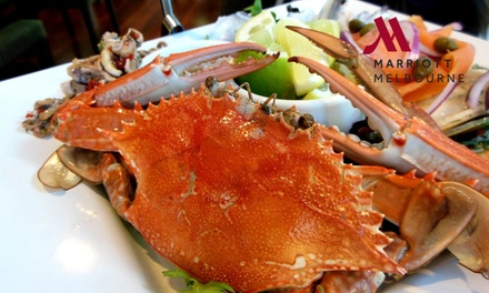 Tiered Seafood Stack + Wine for Two $69 or Four $129 at Essence Restaurant in the Marriott Hotel Up to $230 Value