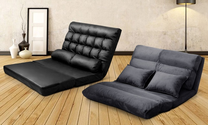 Adjustable lounge sofa bed groupon goods for Sofa bed groupon