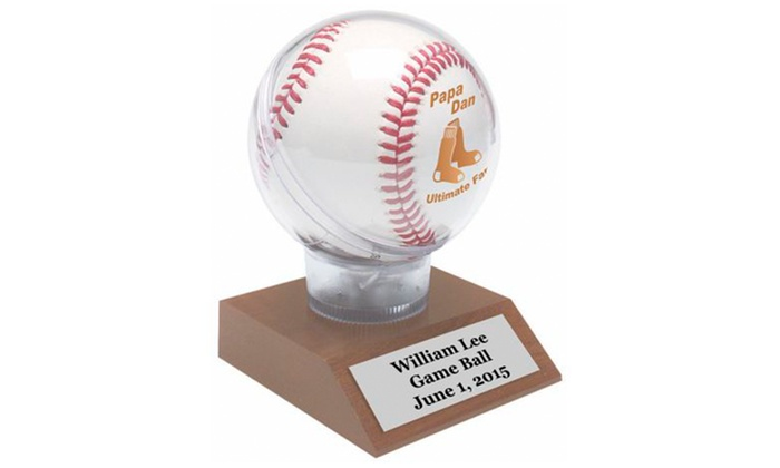 Lazer Designs: One or Three Engraved Baseball Display Cases from Lazer Designs (Up to 29% Off)