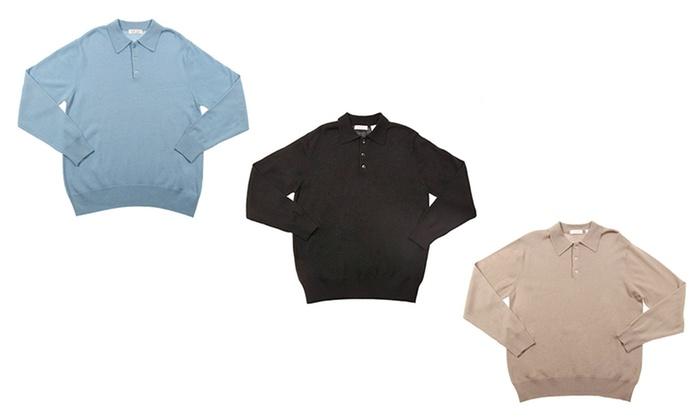 Zorrel Men's Merino Long-Sleeve Polo