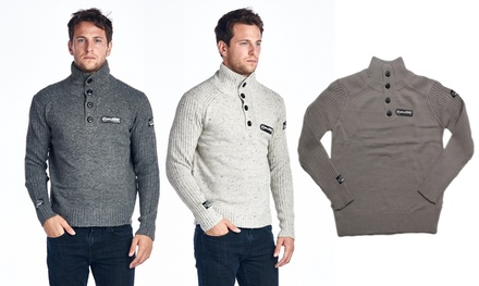 Men's Button-Up Turtleneck Sweaters