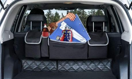 Organizador con bolsillos para el coche