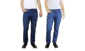 Men's Straight Leg Slim-Fit Jeans