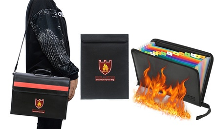 for Home or Office Security Fireproof Document Bag