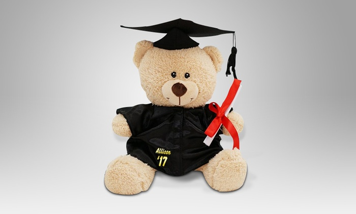 Personalized Graduation Cap And Gown Teddy Bear ...