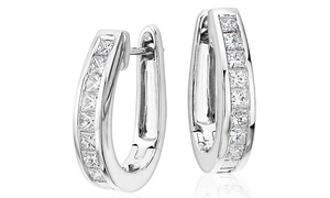 4.20 CTTW Princess Cut Crystal Hoop Earrings with Swarovski Elements at 4.20 CTTW Princess Cut Crystal Hoop Earrings with Swarovski Elements, plus 6.0% Cash Back from Ebates.