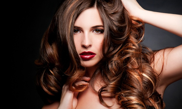 K. Stewart The Salon - Mid-Town Belvedere: Blow-Dry and Style, Relaxer Treatment, or Partial or Full Highlights at K. Stewart The Salon (Up to 61% Off)