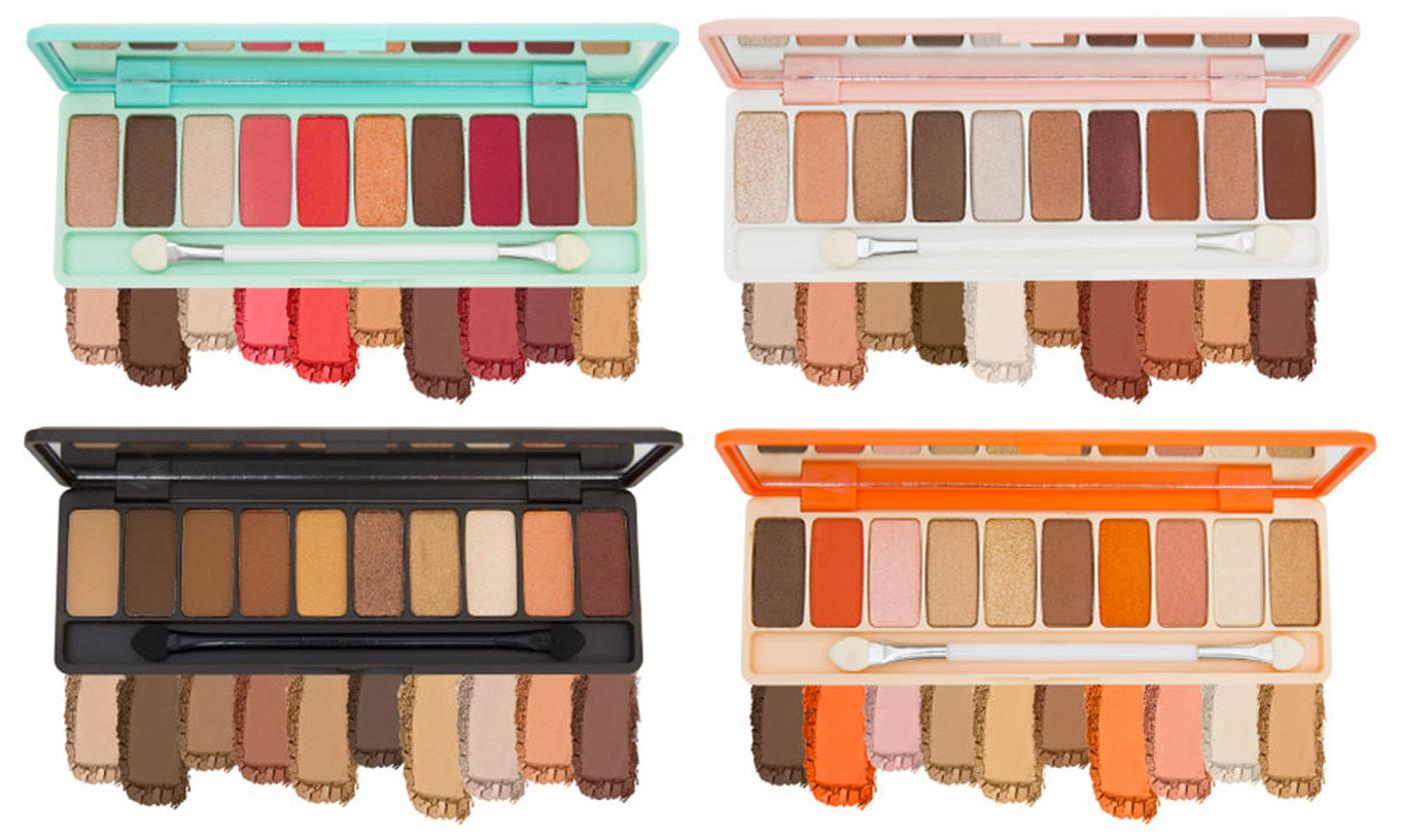 One, Two or Four Matte Eyeshadow Palette with 10 Shades