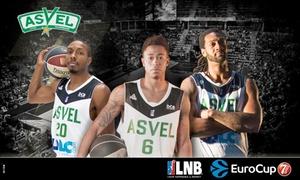 ASVEL Basket: 2 ou 4 places en tribune supérieure pour Asvel VS Le Mans, le dimanche 3 décembre 2017 à 18h30 dès 19 € à l'Astroballe