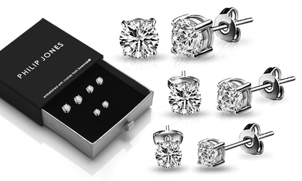 One, Two or Three Packs of Philip Jones Earrings with Crystals from Swarovski®