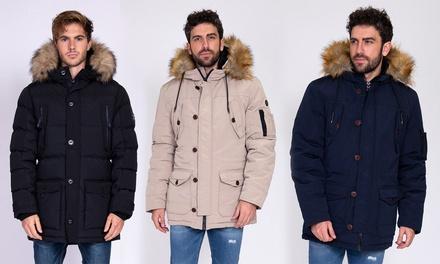 Cappotto imbottito invernale uomo