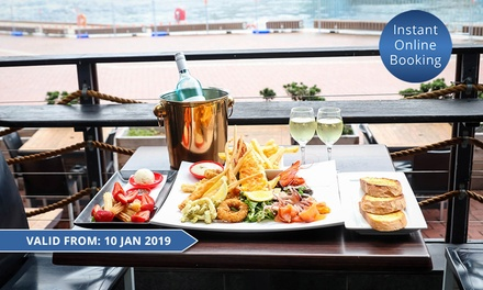 $89 for Seafood Platter, Dessert and Bottle of Wine or Two Cocktails for Two People at The Watershed (Up to $184 Value)