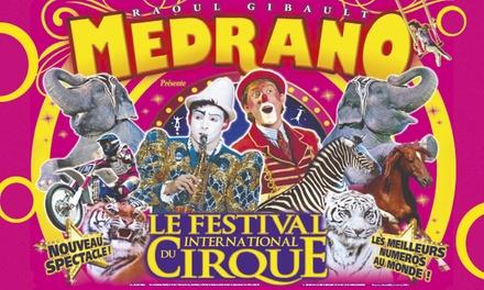 1 place en tribune d'honneur pour assister à l'une des représentations du cirque Medrano à 10 € à Brest