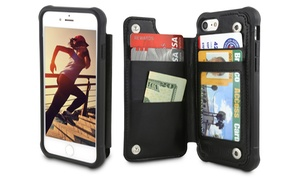 Protective Folio Wallet Case for iPhone 8 and 8 Plus, 7 and 7 Plus