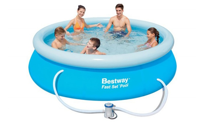 bestway piscine gonflable groupon