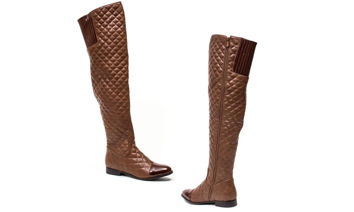 quilt m boots listing poshmark brown riding leather quilted tall