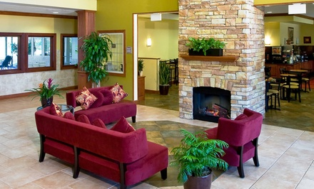 groupon daily deal - 1-Night Stay for Two in a Deluxe or Jacuzzi Suite at Comfort Suites Schaumburg in Chicagoland. Up to Two Kids Stay Free.