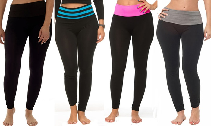 27b3d0c71e Up To 83% Off on Coco Limon Yoga Pants (4-Pack) | Groupon Goods