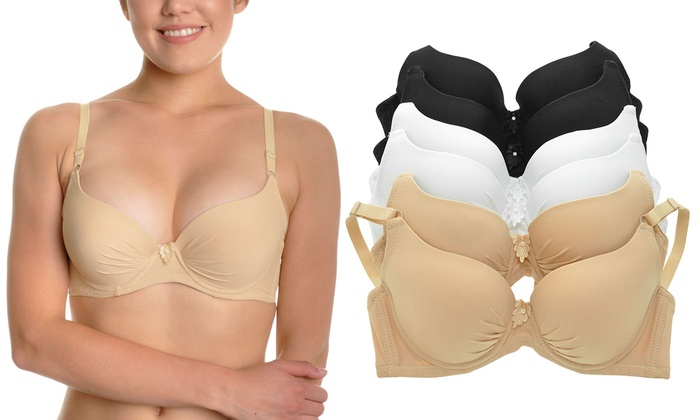 Angelina Wired T-Shirt Bras (6-Pack)