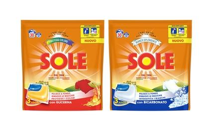 Fino a 4 confezioni di Sole gel caps per lavatrice disponibile in 2 modelli