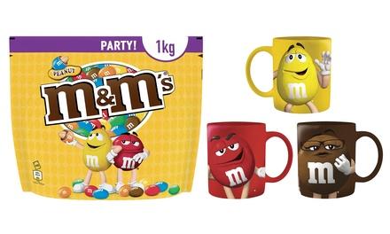 M&MS: Pochon géant de 1Kg chocolats noisettes et Mug M&MS