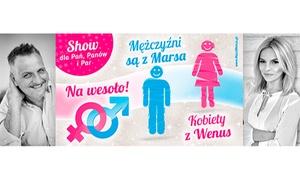 """Grzegorz Kordek: 49,99 zł: bilet na Aplauz Show """"Mężczyźni z Marsa, Kobiety z Wenus"""" Grzegorza Kordka – 7 miast"""