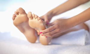 Euphoria Nails and Spa: Reflexology Package with Paraffin Wax and Foot Soak at Euphoria Nails & Spa (55% Off)