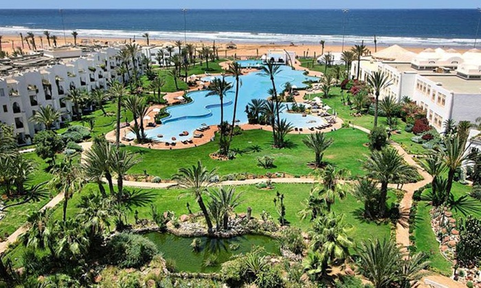 Palais des Roses Hôtel et Thalasso - Agadir: Agadir: 1-14 Nights for Two with Breakfast, Pool Access, Spa Discount and Optional Spa Treatment at 4* Palais des Roses