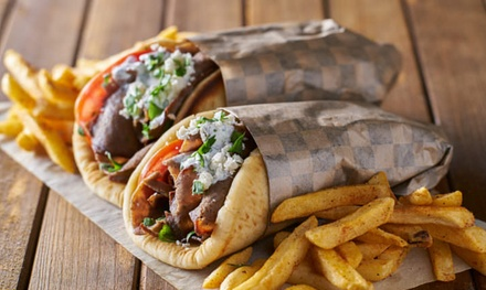 Souvlaki with Chips and Drink for One ($9) or Two People ($18) at King Jon's Souvlaki Bar (Up to $36 Value)