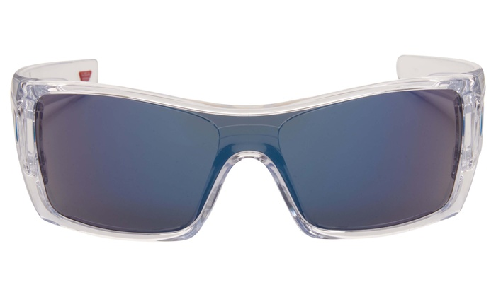 ad73b39f87 Oakley Batwolf Men s Sunglasses with Clear Frame and Ice-Iridium Lens